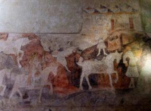 Freska - klanění tří králů