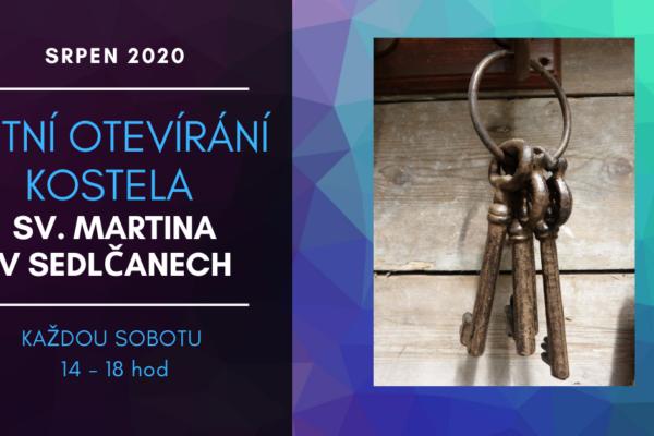 Otevírání kostela sv. Martina, Sedlčany – srpen 2020