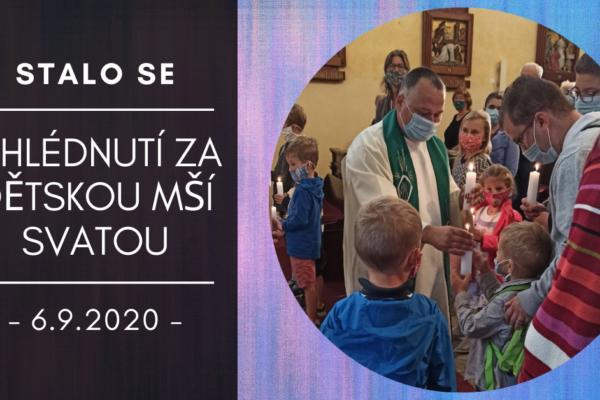 Ohlédnutí za Mší sv. pro rodiče a prarodiče s dětmi